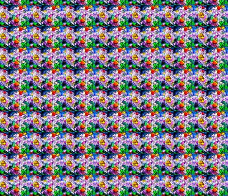 Coneflowers- Again fabric by frances_hollidayalford on Spoonflower - custom fabric