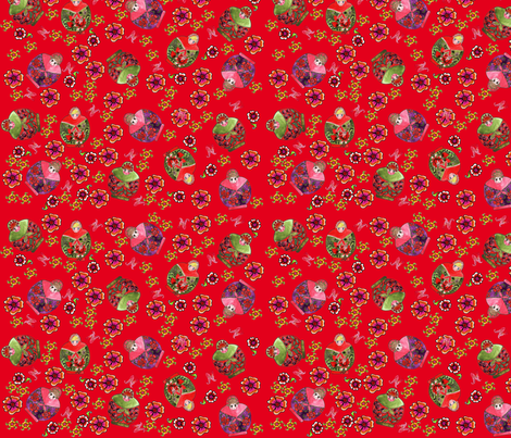 matriochcka red fabric by nadja_petremand on Spoonflower - custom fabric
