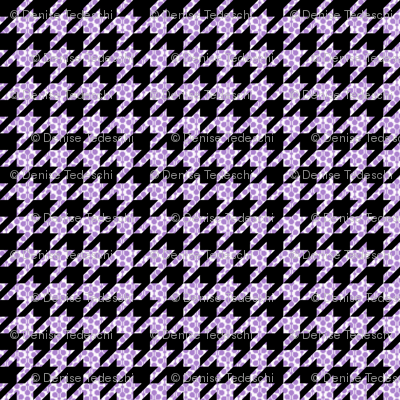 Polka Dot Houndstooth in Purple