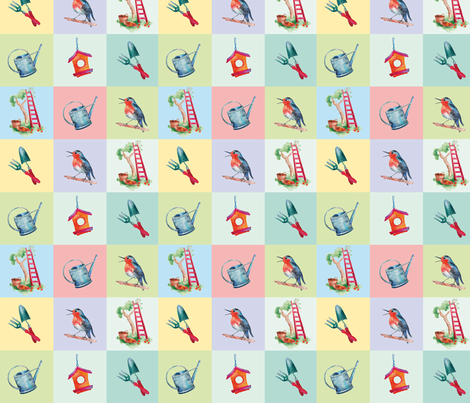 Mom's Garden fabric by evamarion on Spoonflower - custom fabric