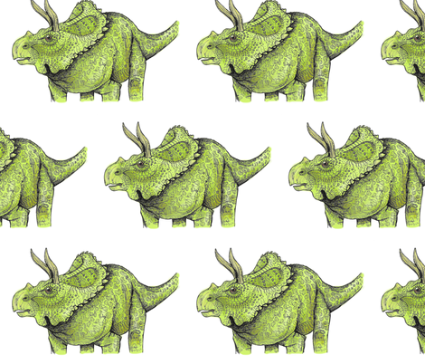 Arrhinoceratops fabric by taraput on Spoonflower - custom fabric