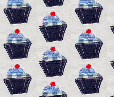 Cupcake Blue fabric by susienielsen32 on Spoonflower - custom fabric