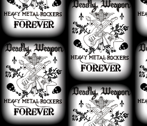 HEAVY METAL ROCKERS fabric by paragonstudios on Spoonflower - custom fabric