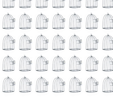 Empty birdcage fabric by syko on Spoonflower - custom fabric