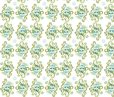 Sea Sprites fabric by 13blackcatsdesigns on Spoonflower - custom fabric