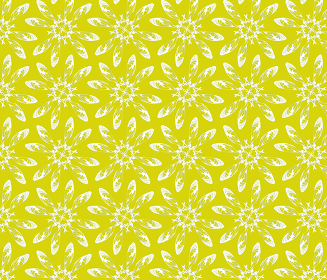 Yellow Seedflowella fabric by maeula on Spoonflower - custom fabric