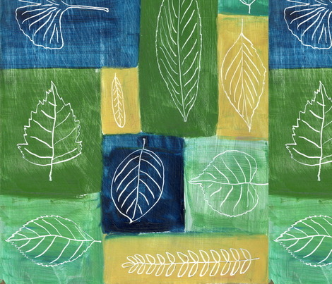 Leaf Symphony fabric by oneheartstudio on Spoonflower - custom fabric