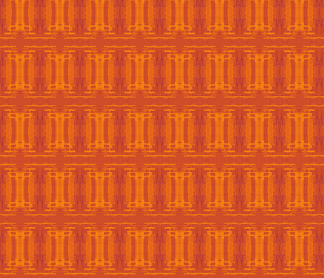 Orange Batik Columns fabric by wren_leyland on Spoonflower - custom fabric