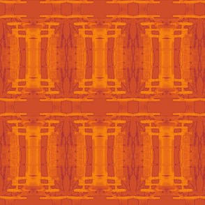 Orange Batik Columns