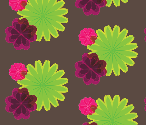 Flora_01 fabric by mingyminge on Spoonflower - custom fabric