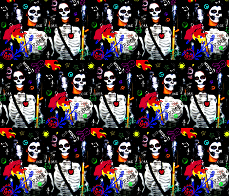Rock & Skull fabric by paragonstudios on Spoonflower - custom fabric