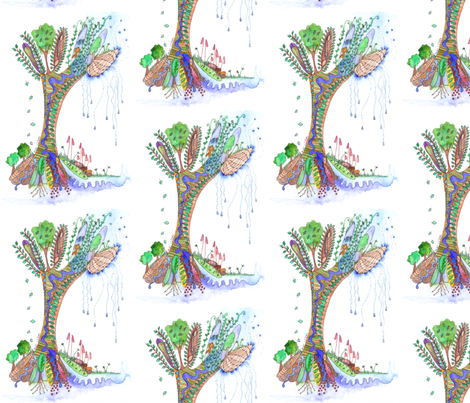 Tree_of_Life_3 fabric by wiccked on Spoonflower - custom fabric