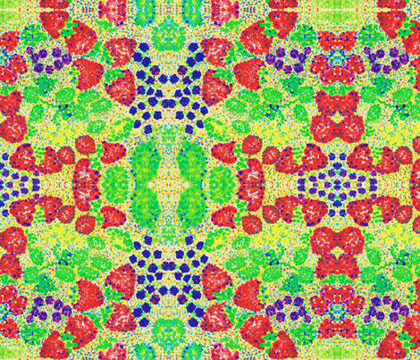 strawberriesandgrapes fabric by littlebear on Spoonflower - custom fabric