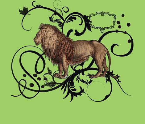 Vintage Lion 21x21