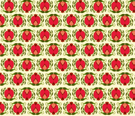 Pomegranate fabric by cindy_lindgren on Spoonflower - custom fabric