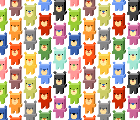 Square Bears (Day) fabric by artcafe on Spoonflower - custom fabric
