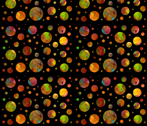 Rainbow Dots fabric by 13blackcatsdesigns on Spoonflower - custom fabric