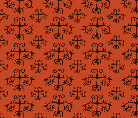 Horns fabric by linesmith on Spoonflower - custom fabric