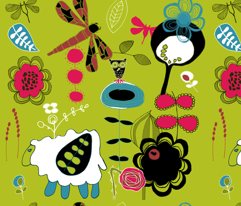 whimsicalgardens fabric by sbd on Spoonflower - custom fabric