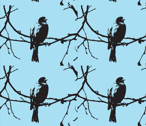 blackbird fabric by weems on Spoonflower - custom fabric