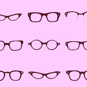 Retro Glasses Frames in lilac