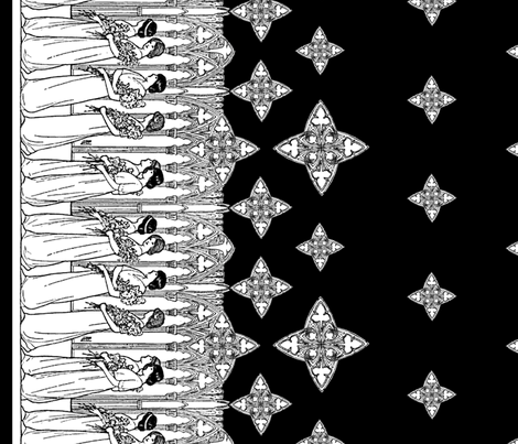 Maiden Border (dark) fabric by ophelia on Spoonflower - custom fabric