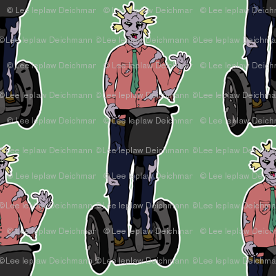 Zombie man on segway