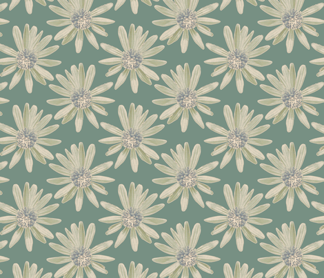 Daisy Garden - Green fabric by kristopherk on Spoonflower - custom fabric