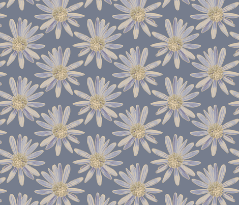 Daisy Garden - Blue fabric by kristopherk on Spoonflower - custom fabric