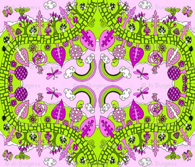 garden_happiness pink & green