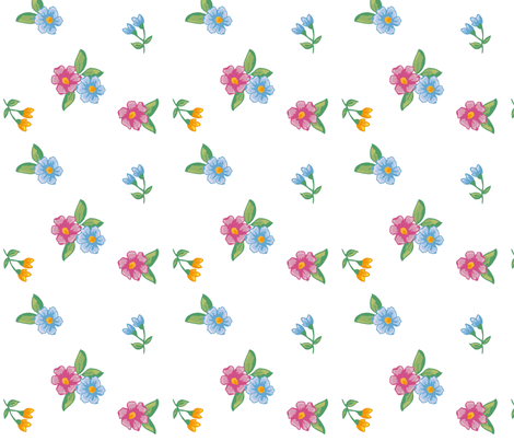 cute little flower fabric by demekah on Spoonflower - custom fabric