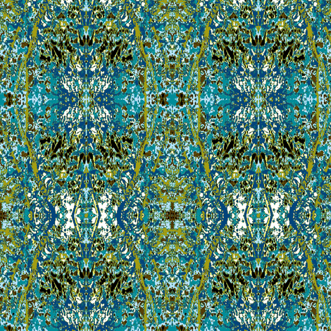 Turquoise Reflections fabric by karendel on Spoonflower - custom fabric