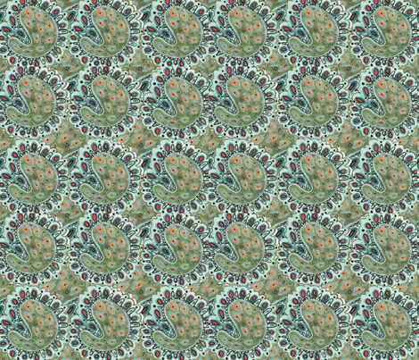 Veronica Paisley fabric by captiveinflorida on Spoonflower - custom fabric