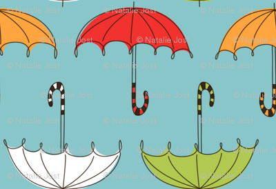 PA117 Umbrellas Blue