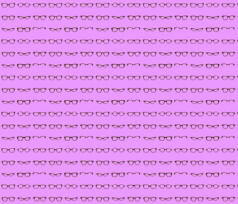 Retro Glasses Frames in Purple - small fabric by dorolimited on Spoonflower - custom fabric