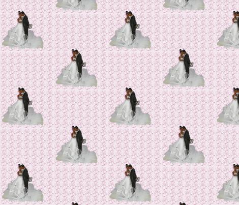 Bride and Groom-Purple-170 fabric by kkitwana on Spoonflower - custom fabric