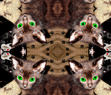 COCOA Kitty fabric by paragonstudios on Spoonflower - custom fabric