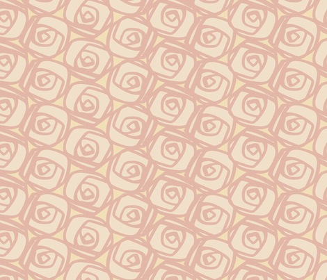 Pink Rose Garden fabric by bunni on Spoonflower - custom fabric