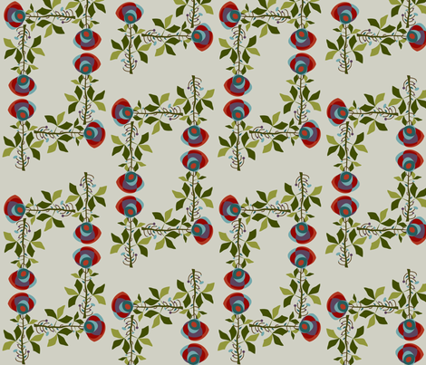 Martian flower fabric by purelydecorative on Spoonflower - custom fabric