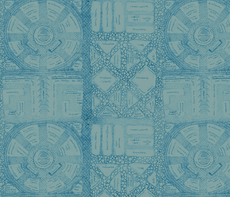 blueprint for a dream garden fabric by weavingmajor on Spoonflower - custom fabric
