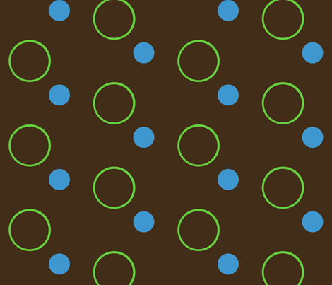Spotty Spots-- Green fabric by winter on Spoonflower - custom fabric