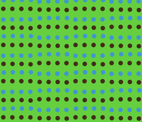Spotty Stripes-- Green fabric by winter on Spoonflower - custom fabric