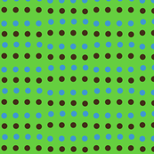 Spotty Stripes-- Green