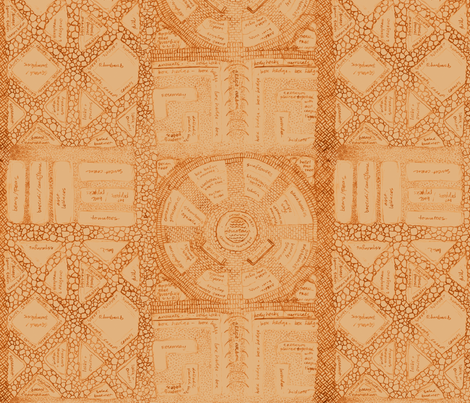 dream garden - sepia-toned fabric by weavingmajor on Spoonflower - custom fabric