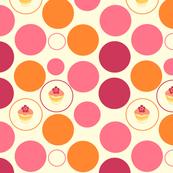 Tropical Dots & Cuppycakes! -  © PinkSodaPop 4ComputerHeaven.com