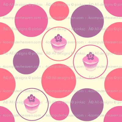 Pinky Purp Dots & Cuppycakes! -  © PinkSodaPop 4ComputerHeaven.com