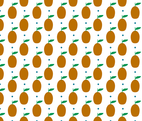 kumquat spot fabric by amybethunephotography on Spoonflower - custom fabric