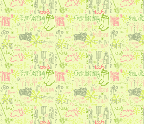 Spring Garden fabric by meghymae on Spoonflower - custom fabric
