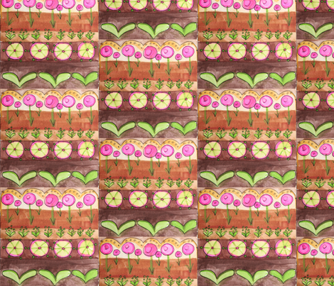 Garden fabric by gurgleturtle on Spoonflower - custom fabric