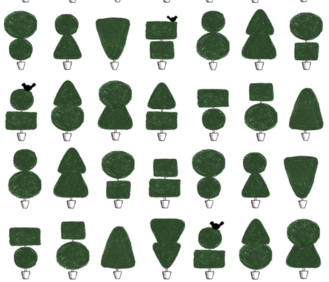 Topiary fabric by leonielovesyou on Spoonflower - custom fabric
